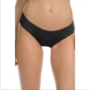 BECCA Cinch Back Banded Hipster Bikini Bottom Sz M